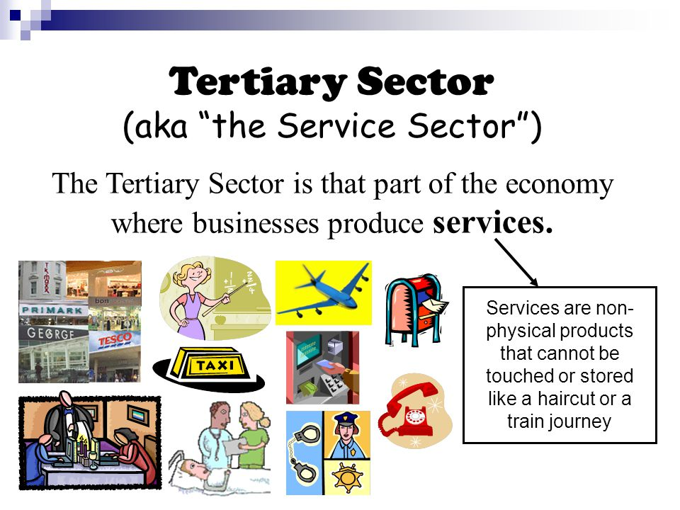 Primary, Secondary and Tertiary industries are linked together in a Chain of Production Chain of Production is the various production stages through which a product passes before being sold to a consumer.