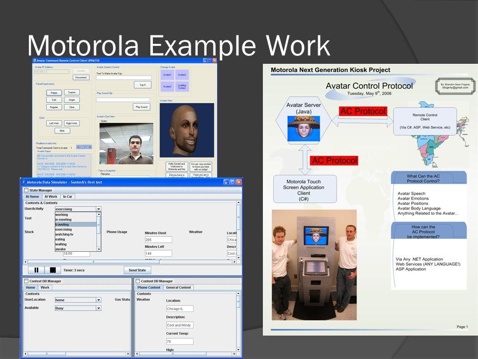 Motorola Example Work