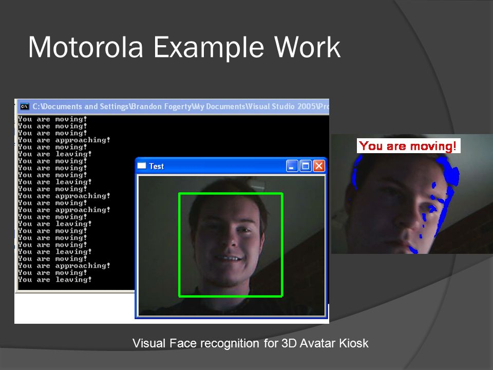 Visual Face recognition for 3D Avatar Kiosk