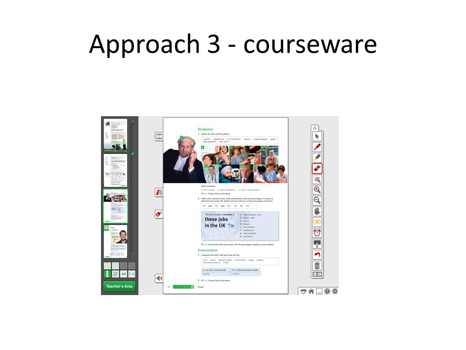 Approach 3 - courseware
