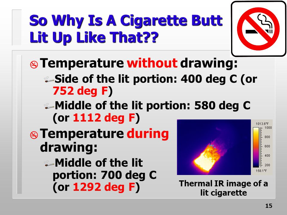 15 So Why Is A Cigarette Butt Lit Up Like That .