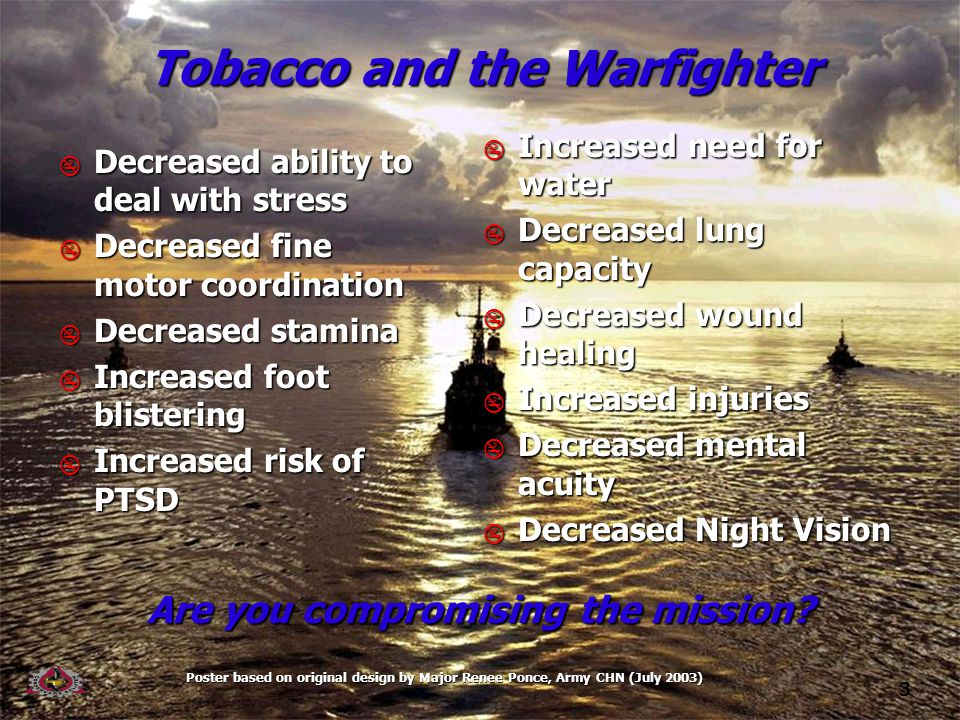 14 Tobacco use makes you a target.