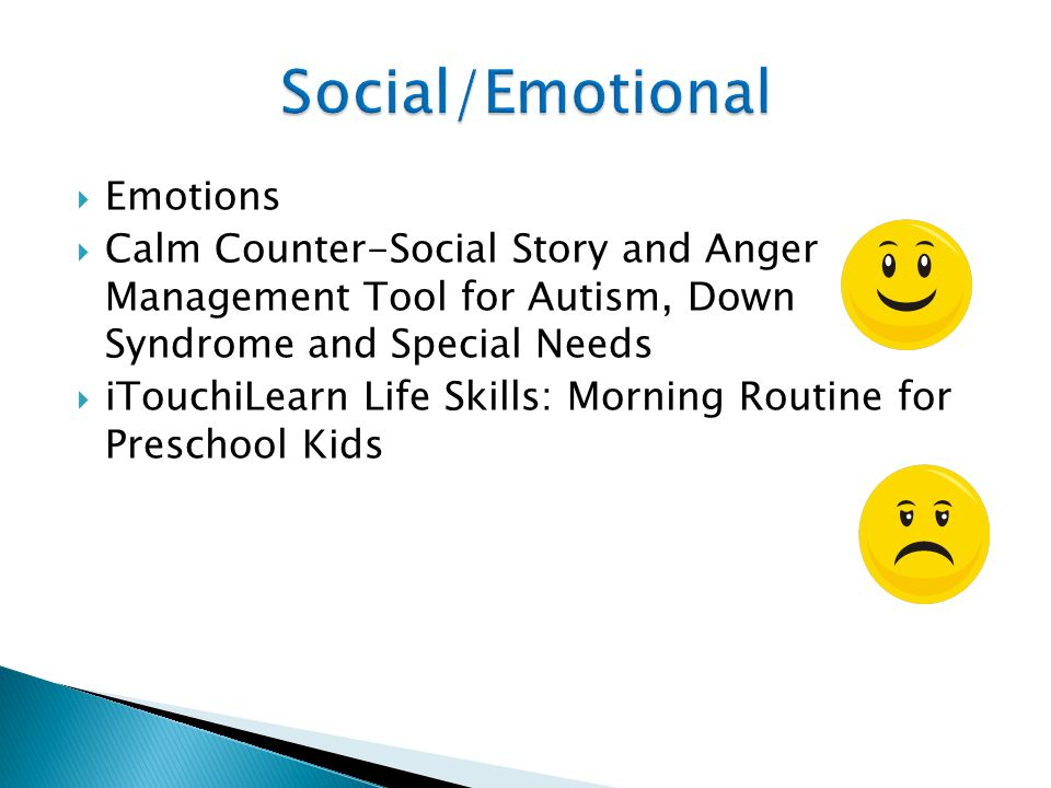 Emotions  Calm Counter-Social Story and Anger Management Tool for Autism, Down Syndrome and Special Needs  iTouchiLearn Life Skills: Morning Routine for Preschool Kids