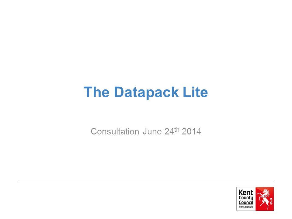 The Datapack Lite Consultation June 24 th 2014