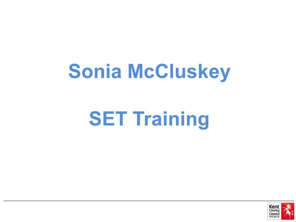 Sonia McCluskey SET Training