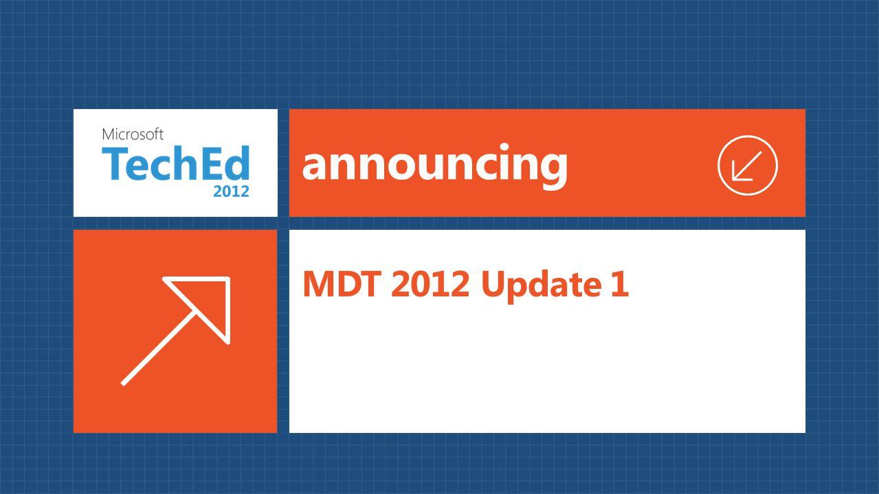 announcing MDT 2012 Update 1