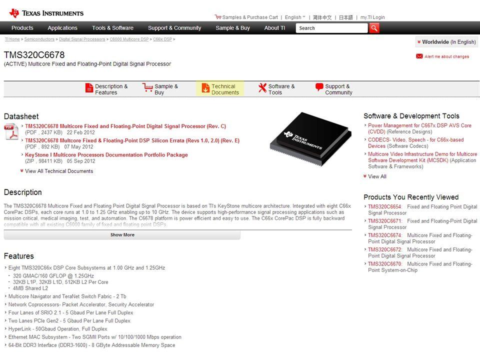 Product Folder Top Docs