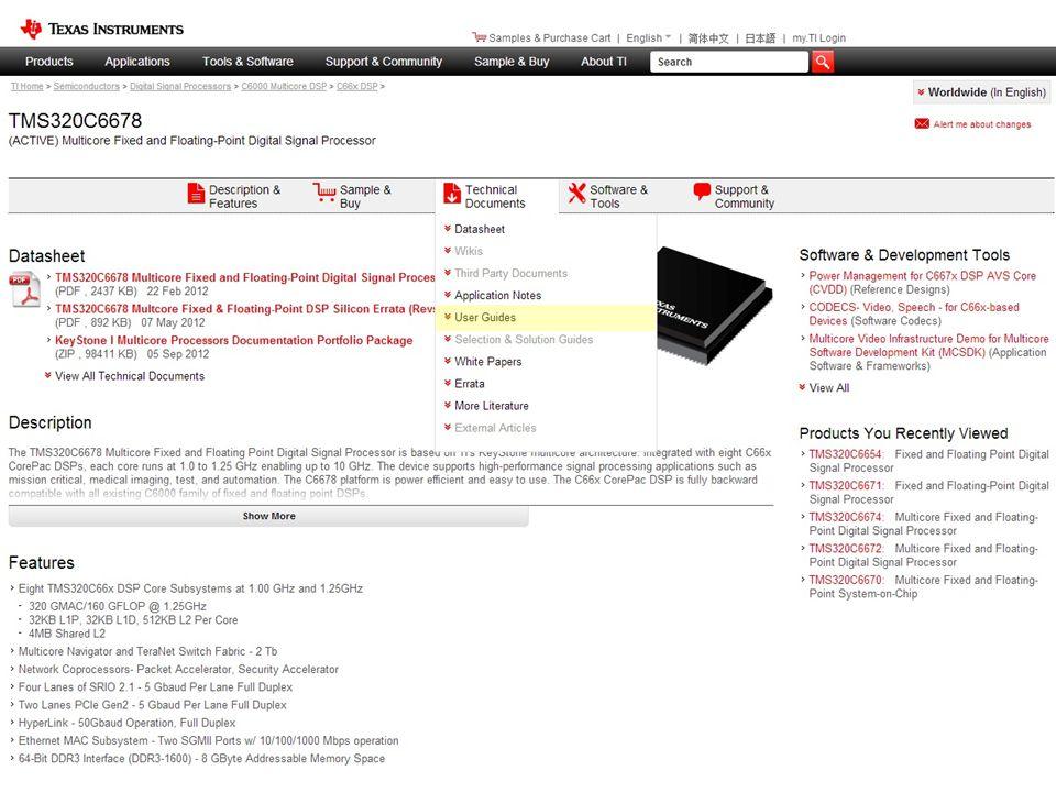 Product Folder Doc Menu