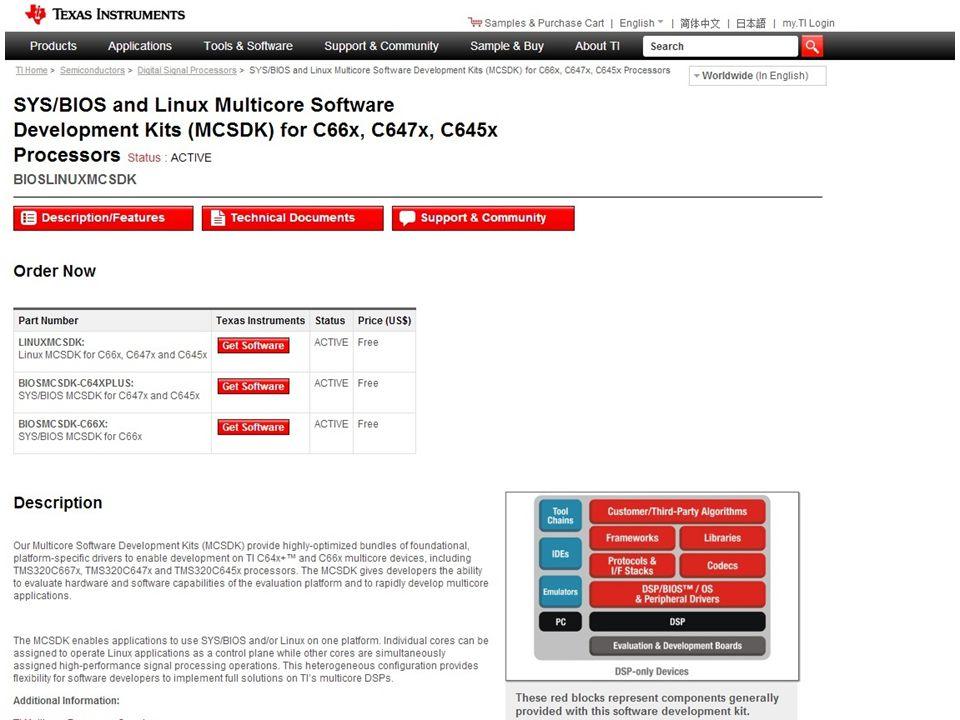 Product Folder MCSDK