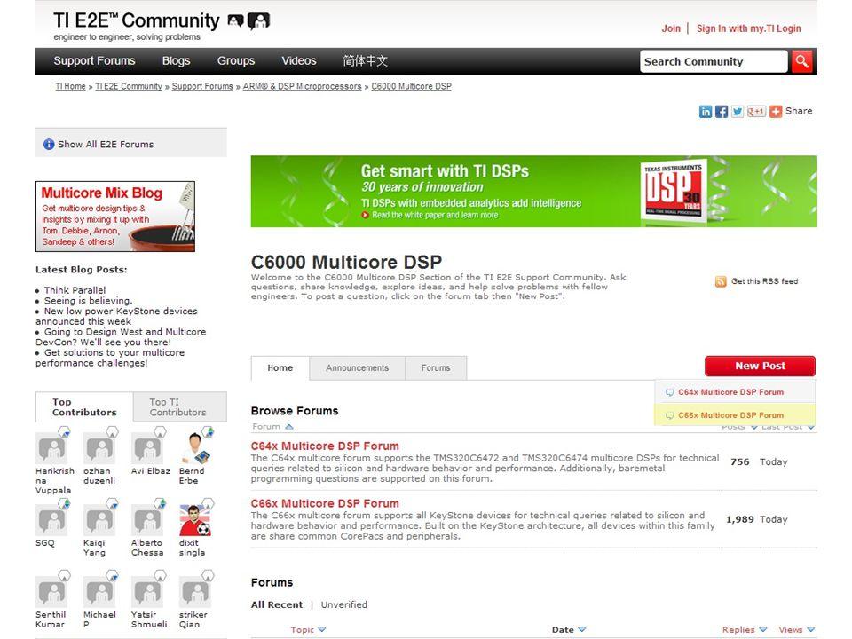 E2E C6000 Multicore DSP Post