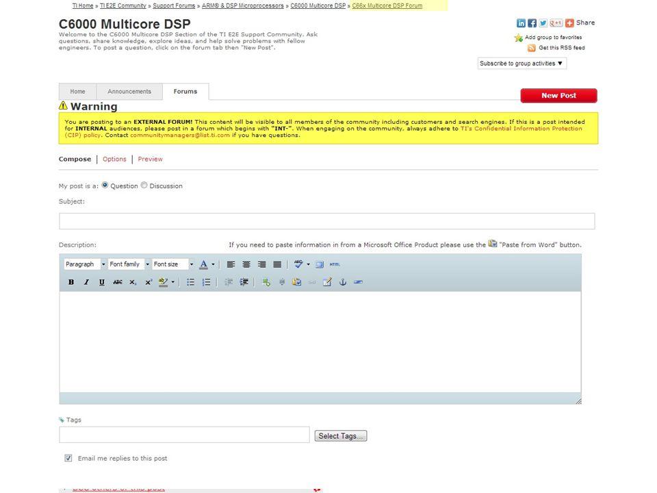 E2E C6000 Mcore DSP New Post