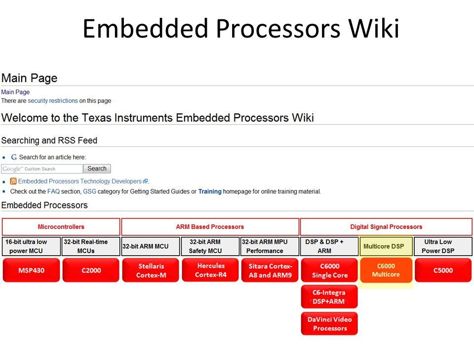 Embedded Processors Wiki