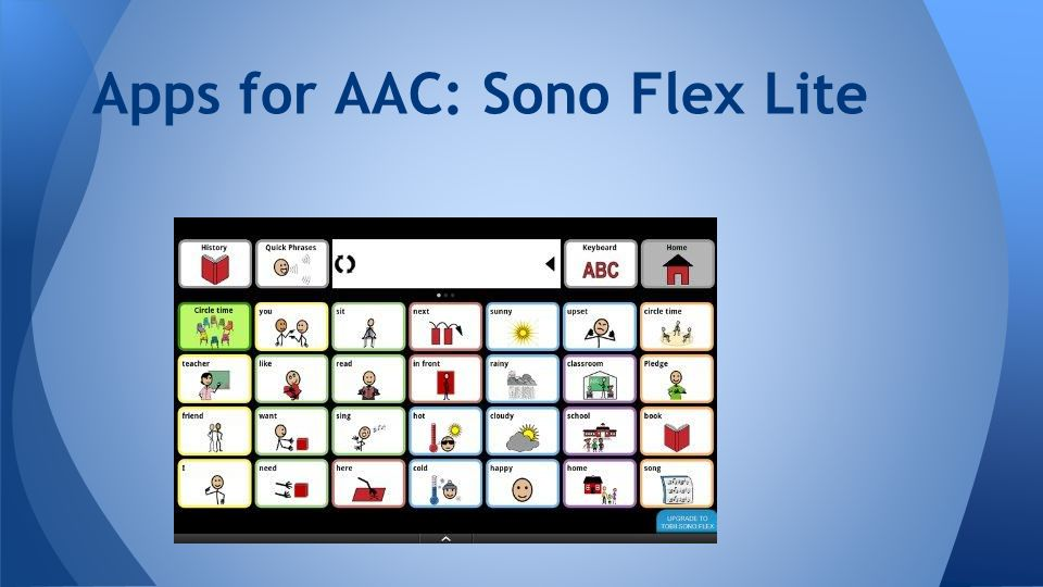 Apps for AAC: Sono Flex Lite