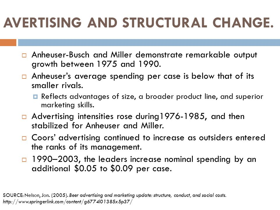 AVERTISING AND STRUCTURAL CHANGE.