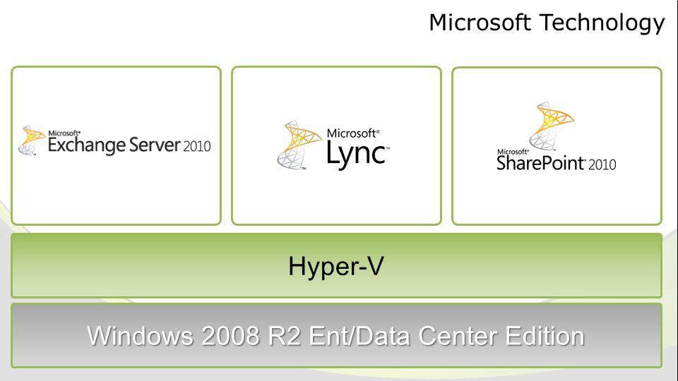 Microsoft Technology Hyper-V Windows 2008 R2 Ent/Data Center Edition