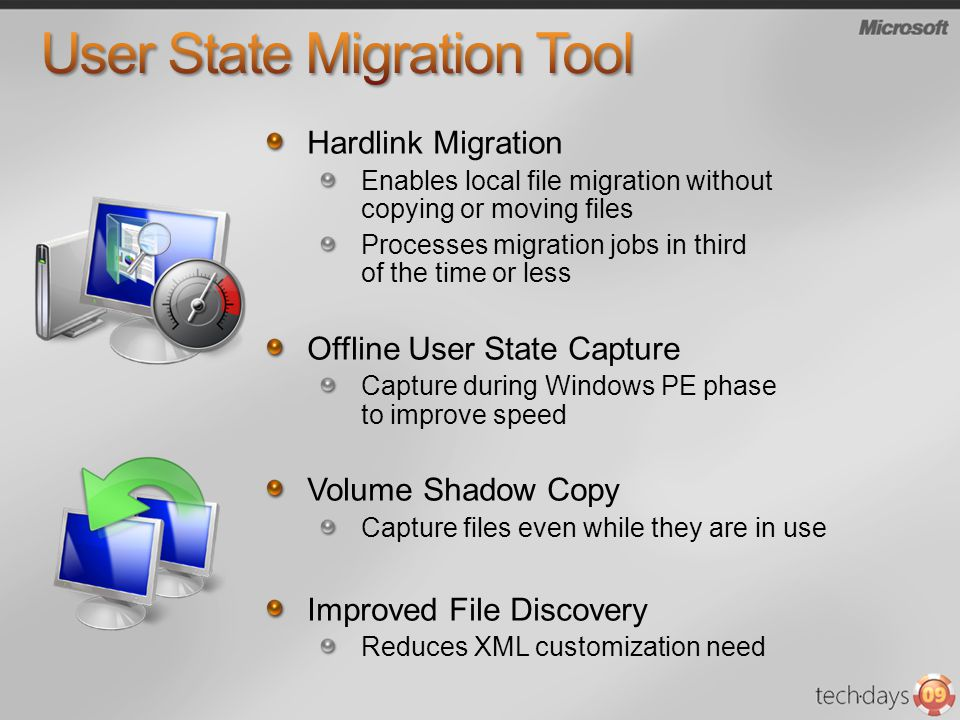 Hardlink Migration Enables local file migration without copying or moving files Processes migration jobs in third of the time or less Offline User Sta