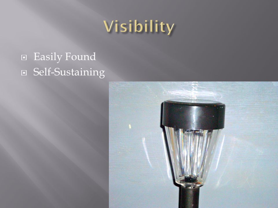  Easily Found  Self-Sustaining