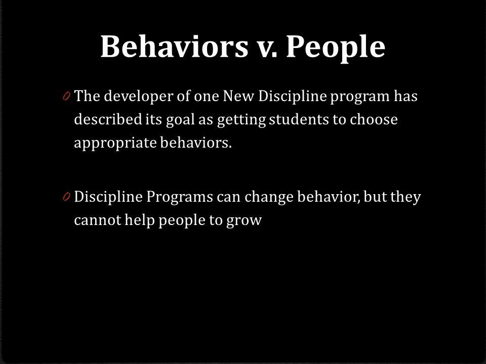 Behaviors v.