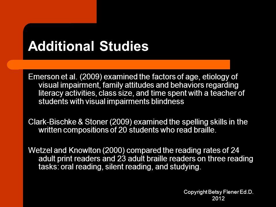 Additional Studies Emerson et al.