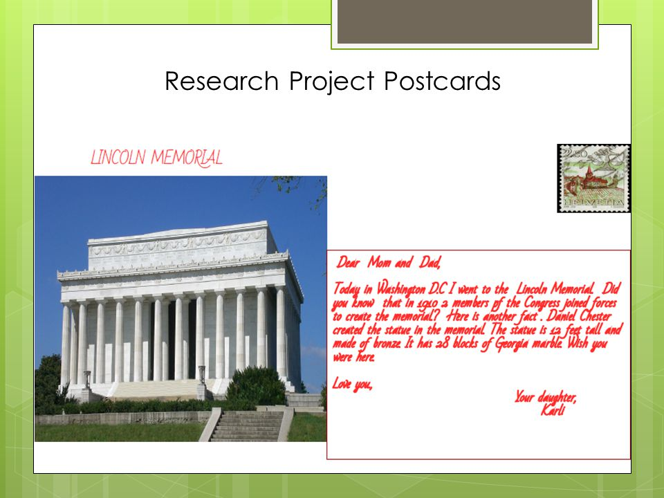 Research Project Postcards