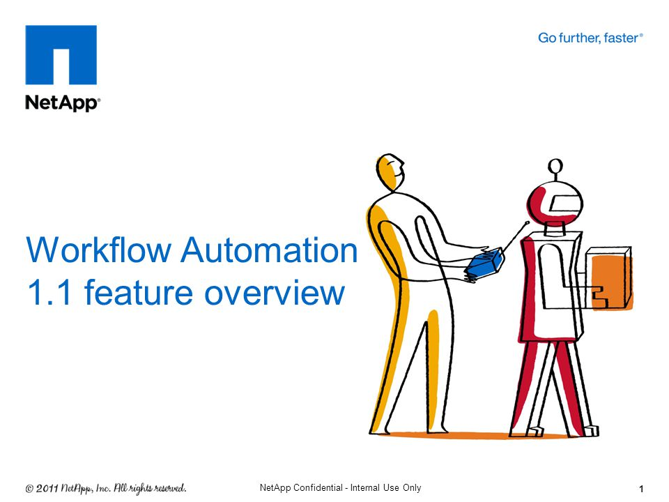 1 NetApp Confidential - Internal Use Only Workflow Automation 1.1 feature overview