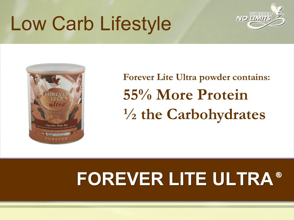 Same Benefits of Forever Lite and Ultra…… Benefit Forever Lite / Forever Lite Ultra New Forever Lite Ultra Provides Satiety Weight Management Excellent Source of Nutrients Energy and Stamina Muscle Support Consumer Demand High Quality Protein Source