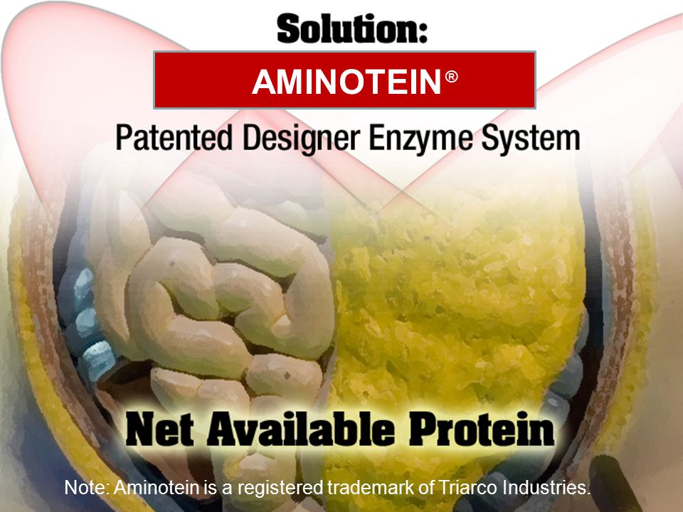AMINOTEIN ® Note: Aminotein is a registered trademark of Triarco Industries.