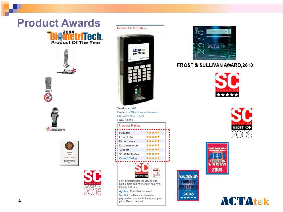 4 Product Awards FROST & SULLIVAN AWARD,2010