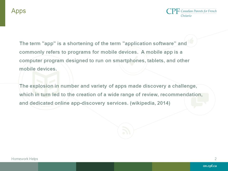 on.cpf.ca Where do you get apps.