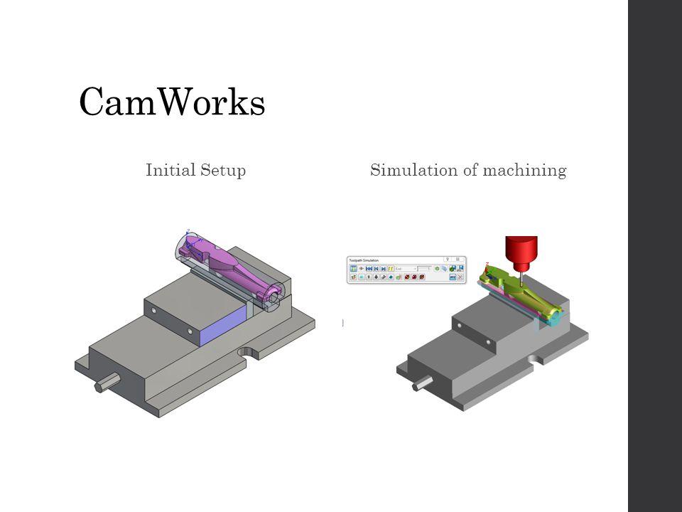 CamWorks Initial SetupSimulation of machining