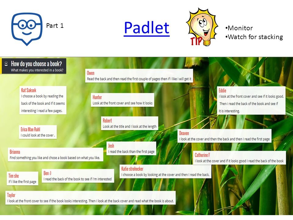 Padlet Monitor Watch for stacking Part 1