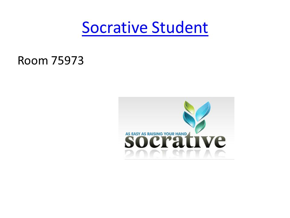 Socrative Student Room 75973