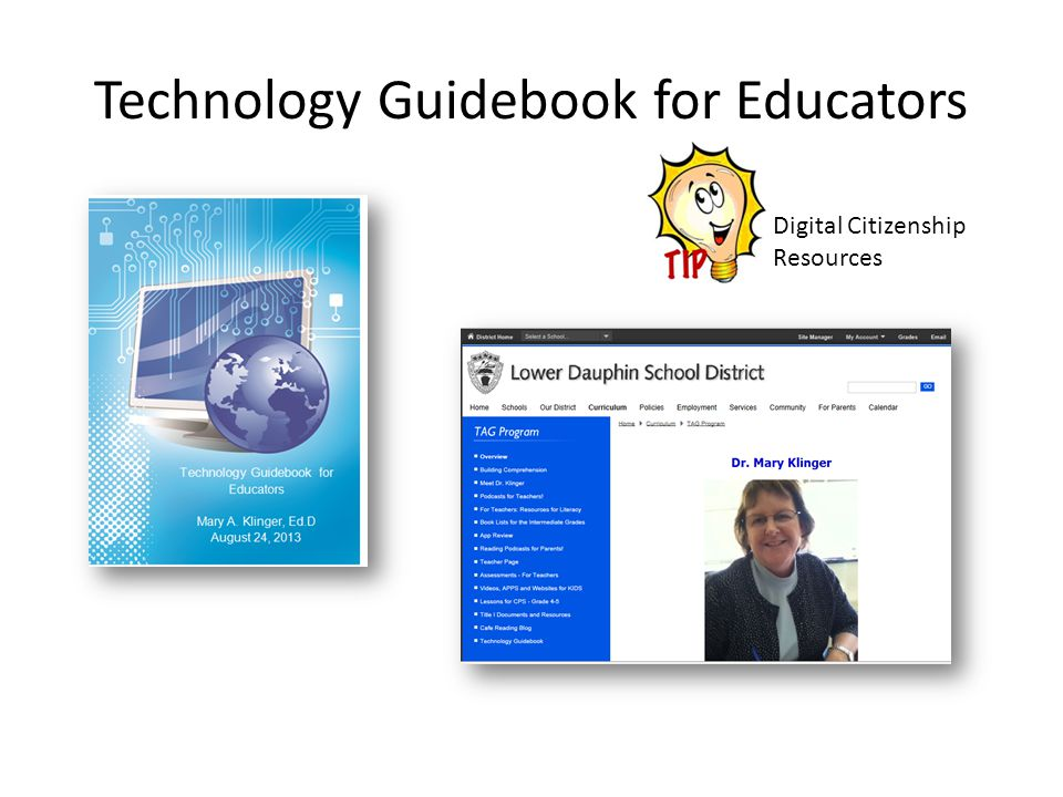 Technology Guidebook for Educators Digital Citizenship Resources