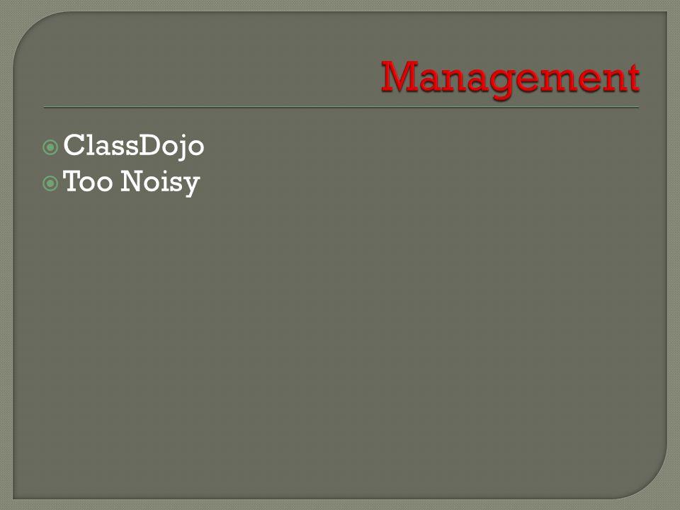  ClassDojo  Too Noisy