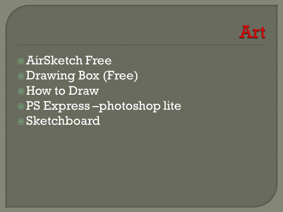  AirSketch Free  Drawing Box (Free)  How to Draw  PS Express –photoshop lite  Sketchboard