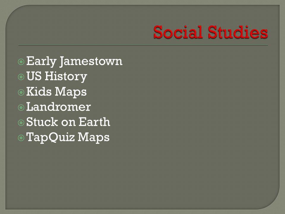  Early Jamestown  US History  Kids Maps  Landromer  Stuck on Earth  TapQuiz Maps