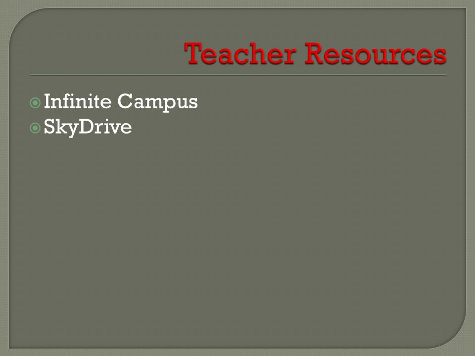  Infinite Campus  SkyDrive
