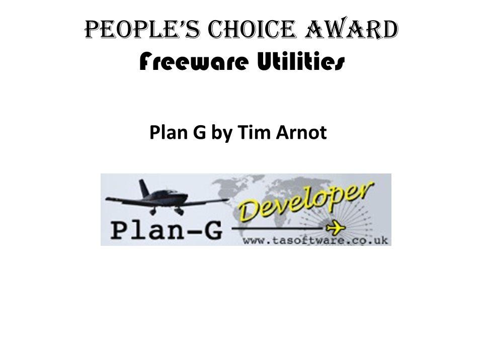 People's Choice Award Freeware Utilities Plan G by Tim Arnot