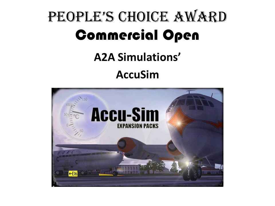 People's Choice Award Commercial Open A2A Simulations' AccuSim