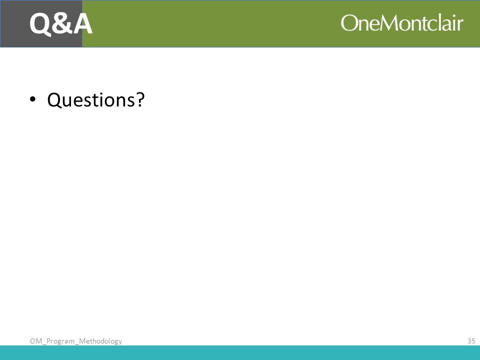 Questions? Q&A OM_Program_Methodology35