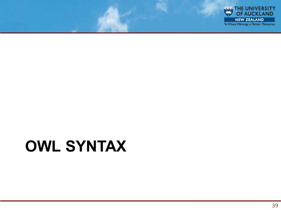 39 OWL SYNTAX