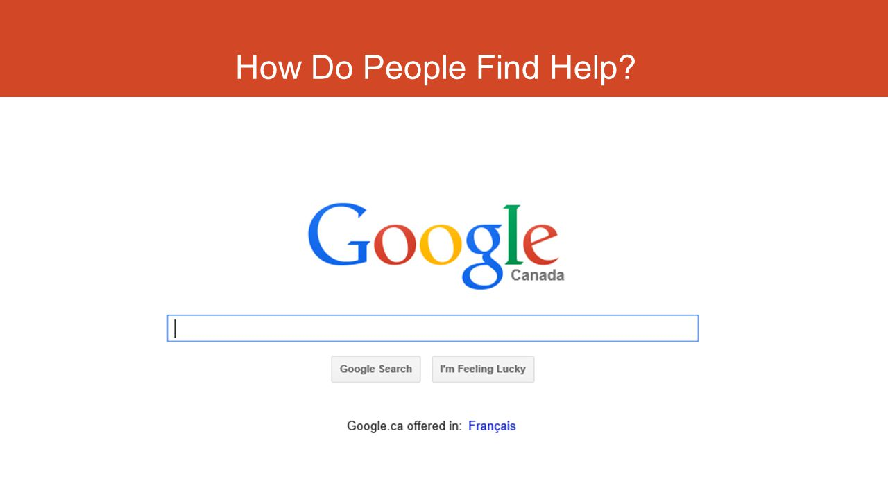 How Do People Find Help?