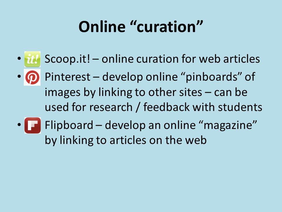 Online curation Scoop.it.