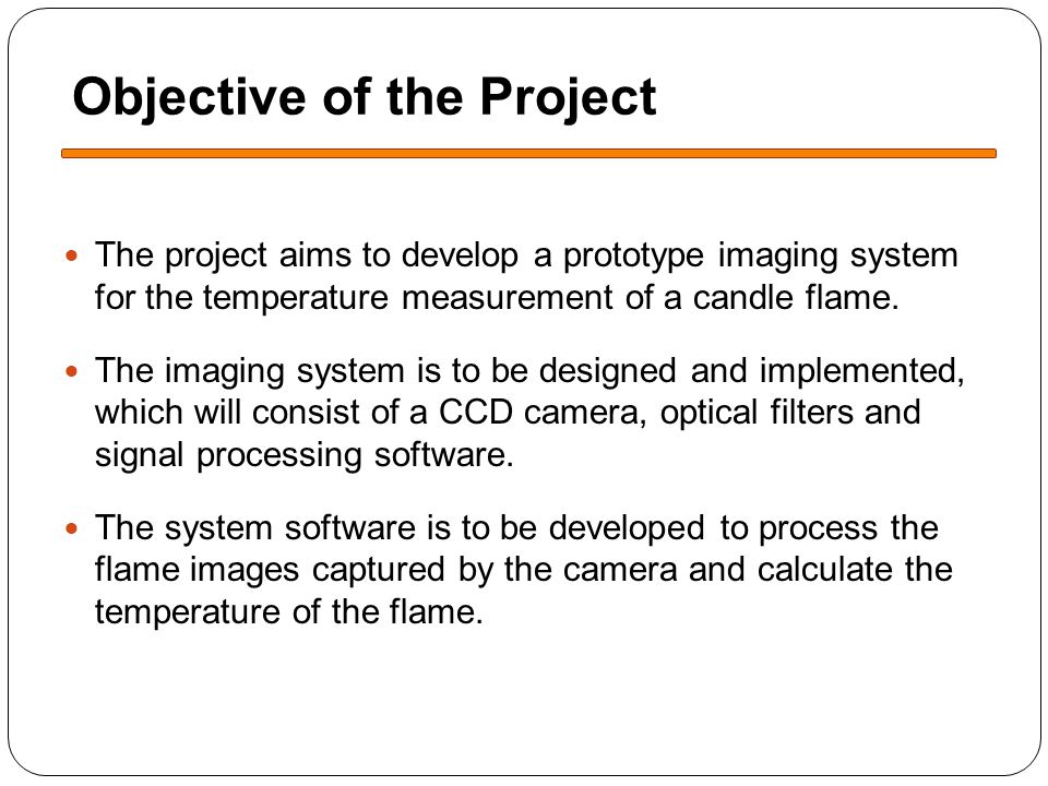 Technical Approach The system developed will working on the two-colour temperature measurement principle.