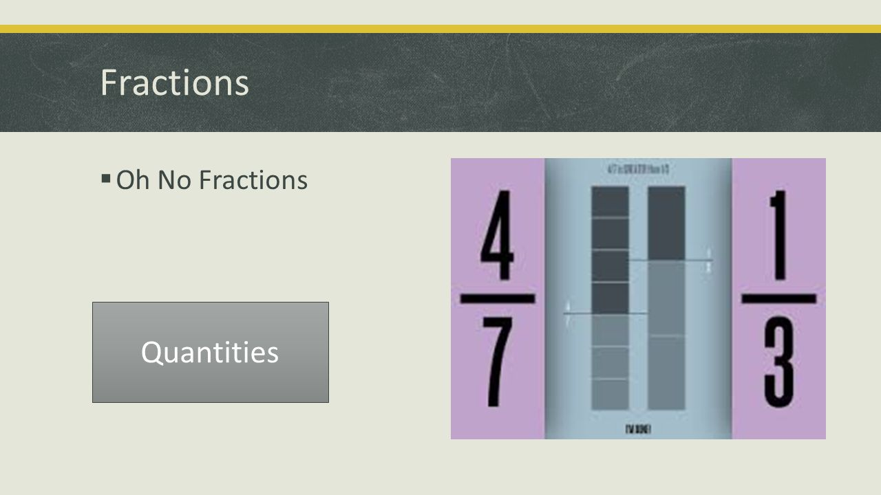 Fractions  Oh No Fractions Quantities