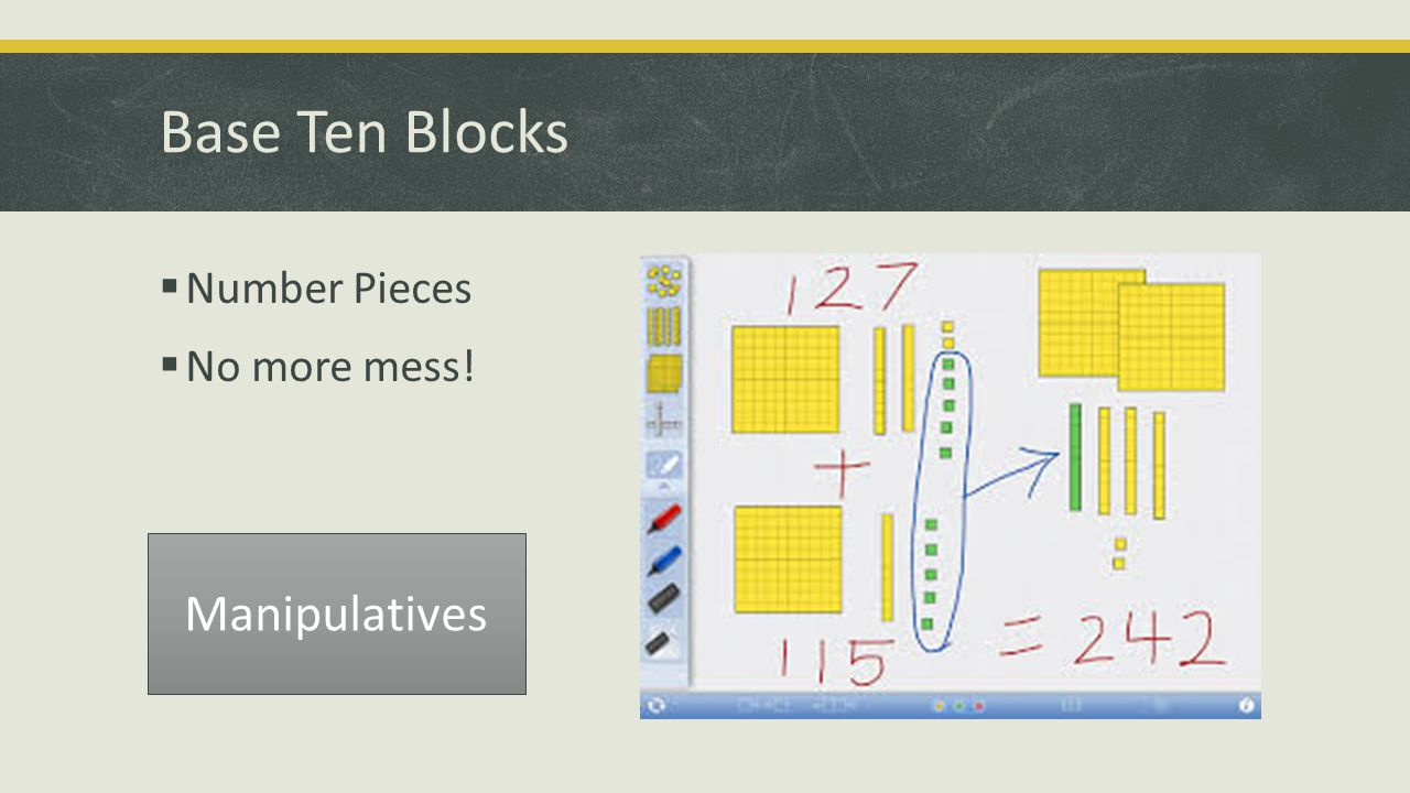 Base Ten Blocks  Number Pieces  No more mess! Manipulatives