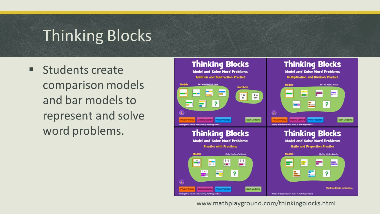  Students create comparison models and bar models to represent and solve word problems.