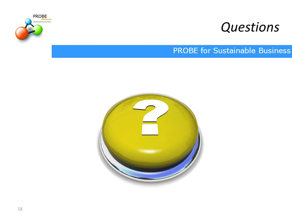 PROBE for Sustainable Business 18 Questions