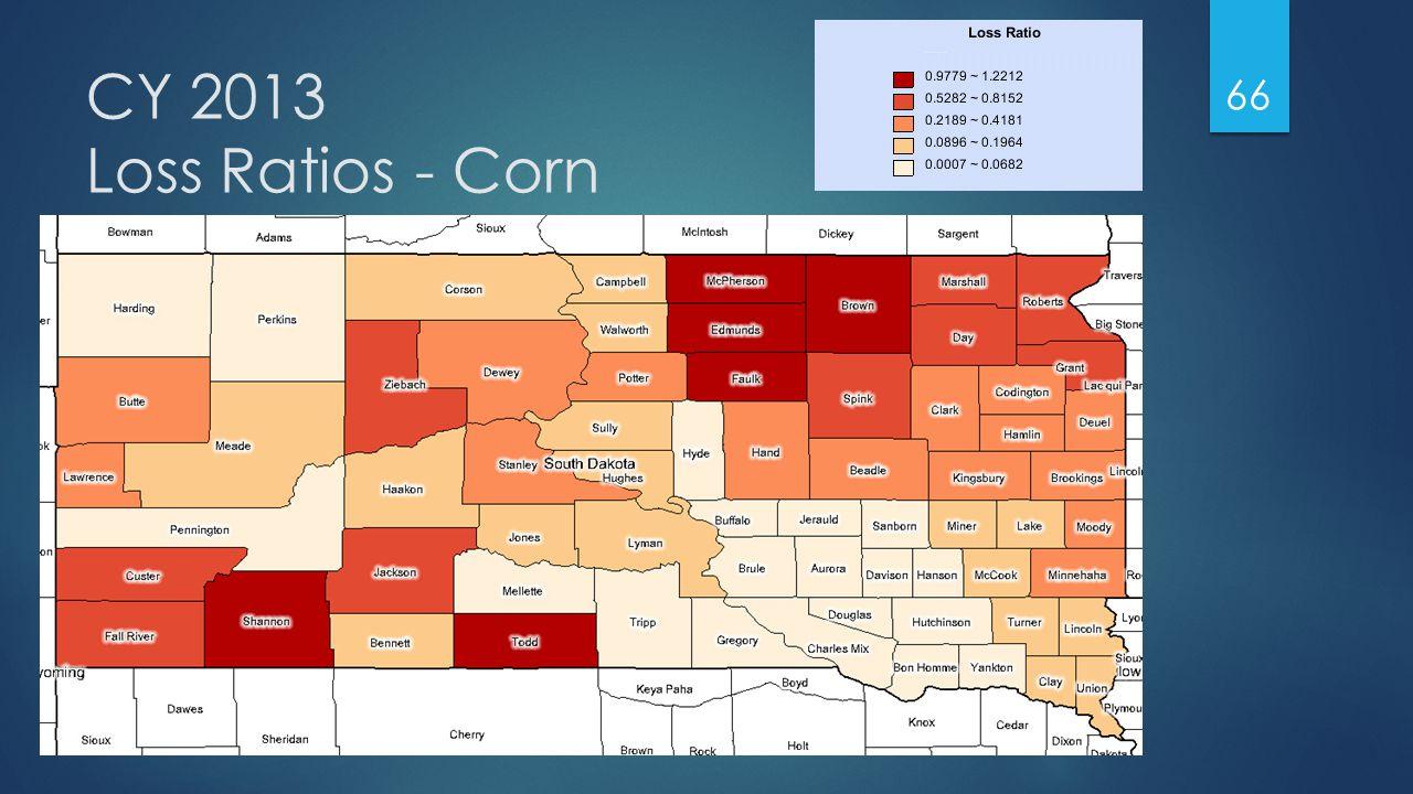 CY 2013 Loss Ratios - Corn 66