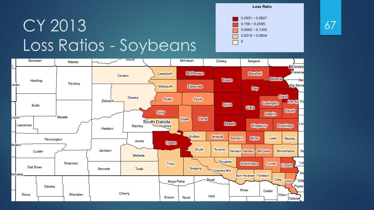 CY 2013 Loss Ratios - Soybeans 67